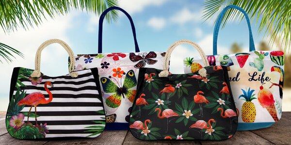 Krásné plážové tašky s letními vzory