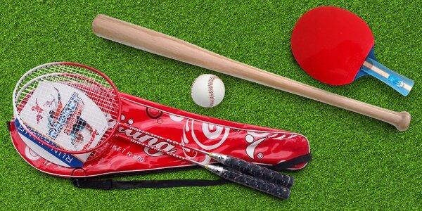 Sportovní pomůcky na baseball, basket a další