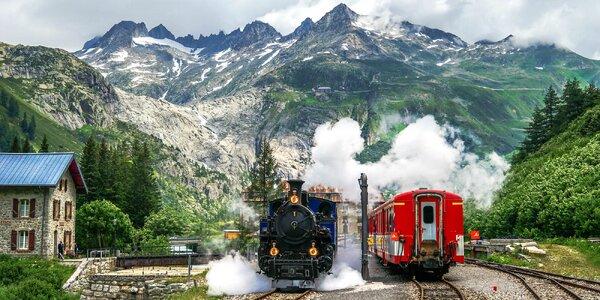 Romantické Švýcarsko z oken parních vlaků