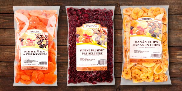 Něco na zub: Chutné a zdravé balíčky sušeného ovoce od Pohody