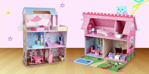 Skládací, lehké a bezpečné domečky pro panenky