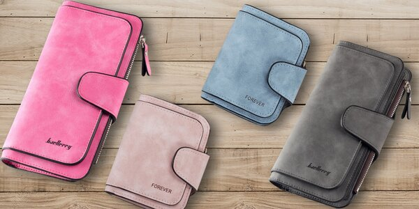 Pastelové dámské peněženky v pěti barvách