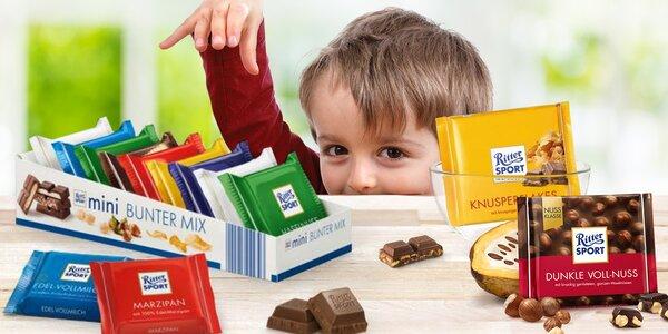 Balíčky lahodných čokolád Ritter Sport