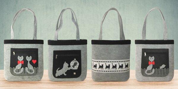 Ekologické kabelky v šedé barvě