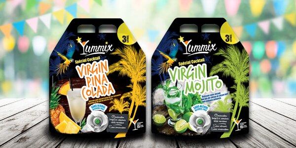 3litrové nealko koktejly: Mojito i Piña Colada