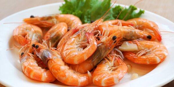 Celé neloupané krevety: 200, 500 nebo 1 000 g