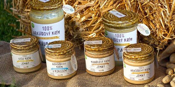 Arašídové a oříškové krémy: mandle, kešu i kokos