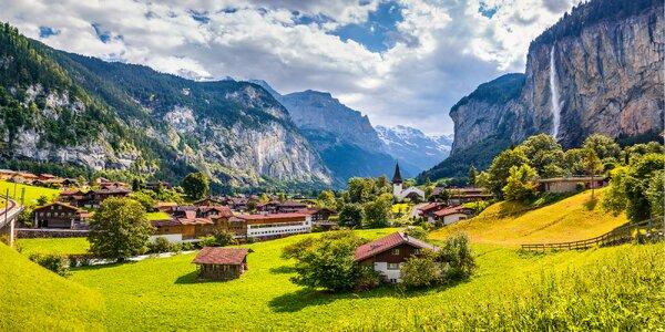 Nejkrásnější oblast Švýcarska vč. 4x ubytování