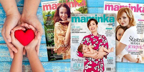 Maminka: Roční předplatné oblíbeného časopisu