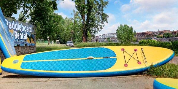 Hodina pádlování na paddleboardu v centru Prahy