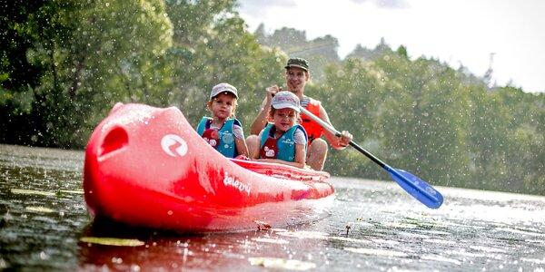 Půjčení kánoí či raftů pro 2–6 vodáků na víkend