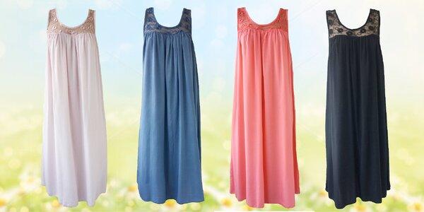 Dámské letní šaty s elegantním výstřihem