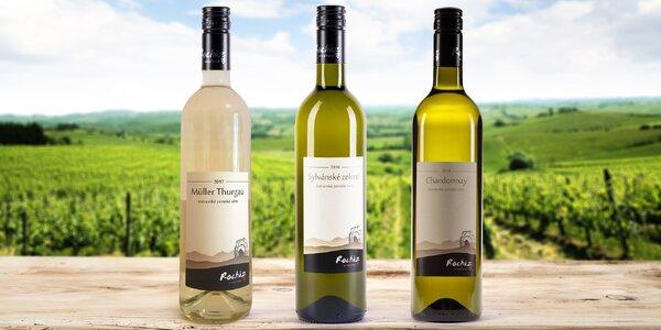 6 láhví vína: Müller Thurgau i Chardonnay