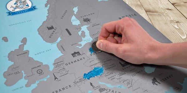 Pro nadšence eurovíkendů: Stírací mapa Evropy
