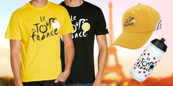 Tour de France: kšiltovky, trika i lahev na kolo
