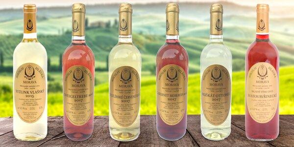 6 přívlastkových moravských vín