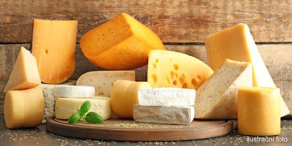 Voňavé 400g balíčky sýrů z Itálie či Holandska