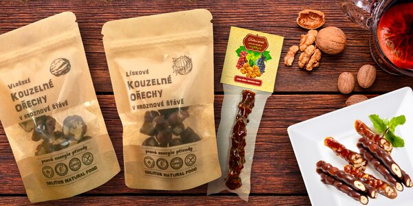 Zdravá dobrota: Ořechy s hroznovou šťávou