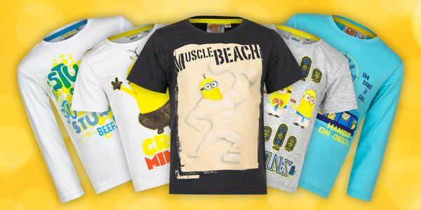 Dětská bavlněná trička s motivy Mimoňů