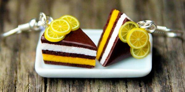 Krásné dortíkové náušnice z FIMO