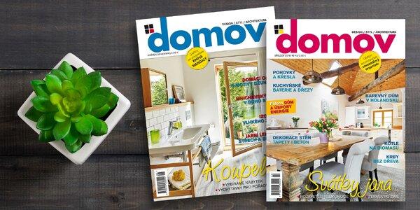 Tříměsíční předplatné praktického časopisu DOMOV