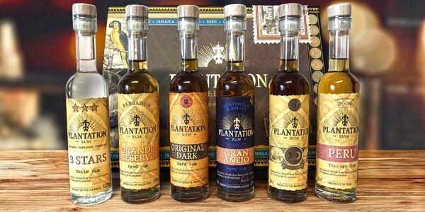 Degustační kazeta se 6 rumy Plantation