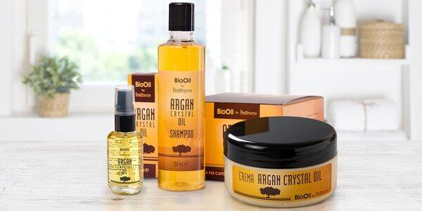 Arganové přípravky na suché a poškozené vlasy