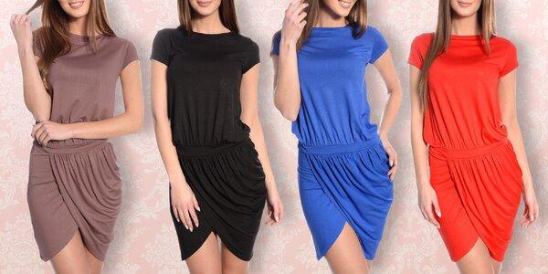 Elegantní dámské šaty s krátkým rukávem: 6 barev