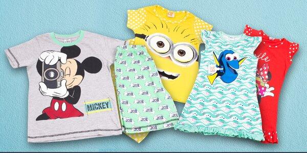 Dětská bavlněná pyžama a košilky s oblíbenými hrdiny