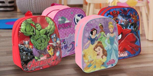 Dětské větší batůžky s animovanými hrdiny
