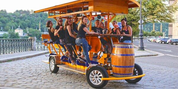 Parádní jízda na pivním kole v partě až 16 lidí