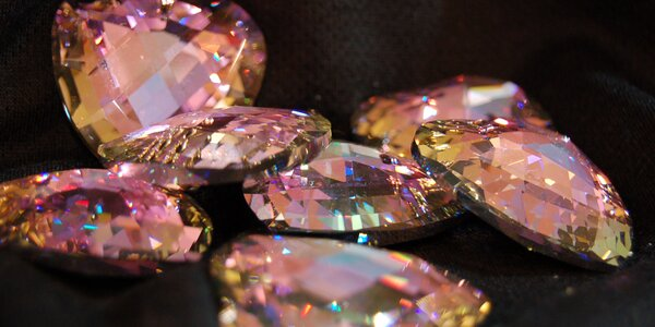 Krystal srdce z křišťálu v dárkové krabičce