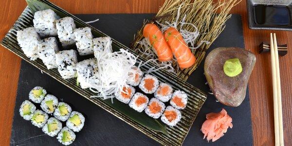 3 sety lahodného sushi: losos, avokádo i tuňák