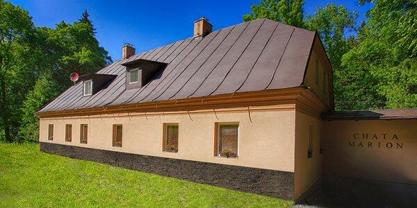 Vybavená chata v Jeseníkách pro 4 až 14 osob