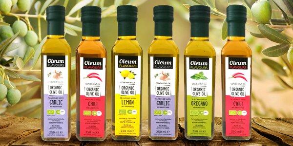 Řecké bio olivové oleje s příchutí: 250 ml i set