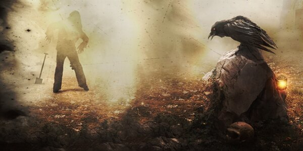 Únikovka Dům smutku – útěk hrobníkovi z lopaty