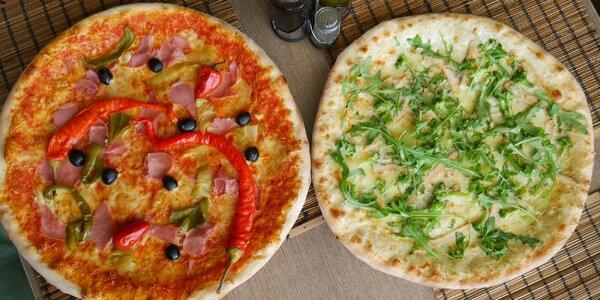 Vyberte si dle chuti: 2 pizzy z nabídky 24 druhů