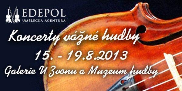 Koncerty v Galerii U Zvonu a v Českém muzeu hudby