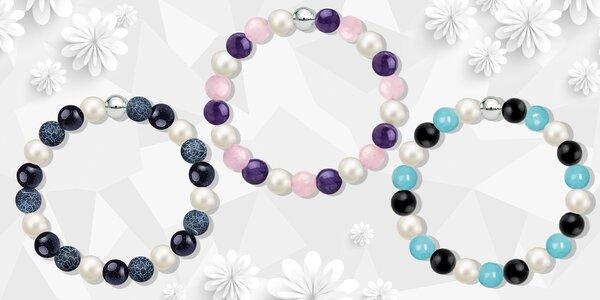 Krása plná energie: náramky z přírodních kamenů s perlami Swarovski