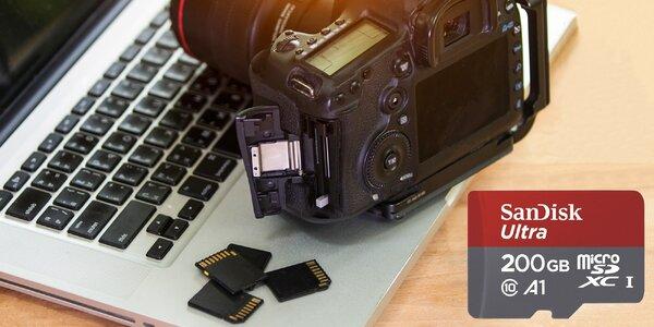 Paměťová karta microSD SanDisk s kapacitou 200 GB