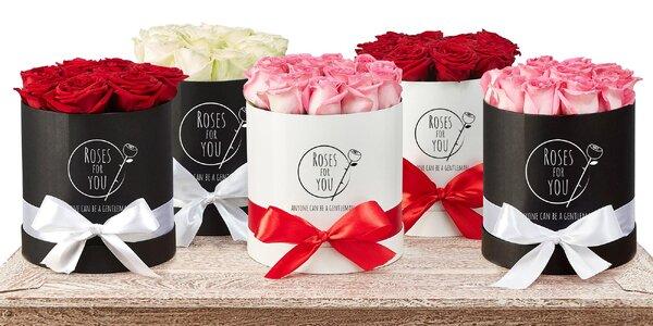 Vyznání květinami: flower boxy se 7–35 růžemi