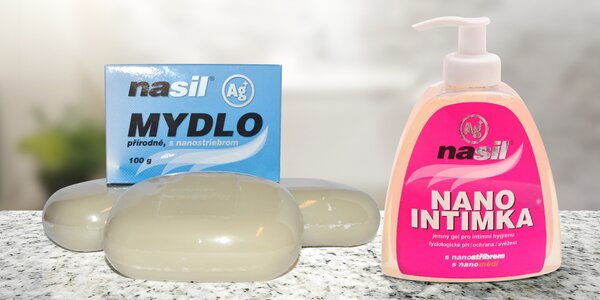 Přírodní mýdlo a intimgel s nanostříbrem NASIL®