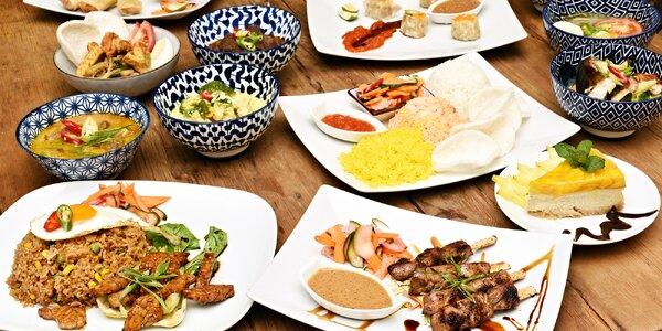 Speciality indonéské kuchyně až pro 4 osoby