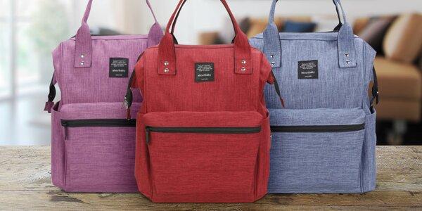 Praktický batoh pro maminky se spoustou kapes