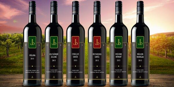 6 lahví přívlastkových vín ze Slovácka