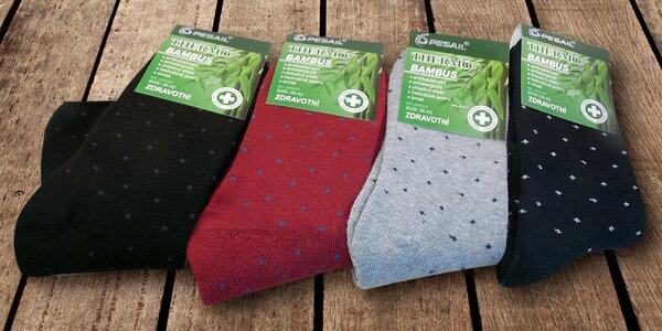 4 páry dámských bambusových termo ponožek