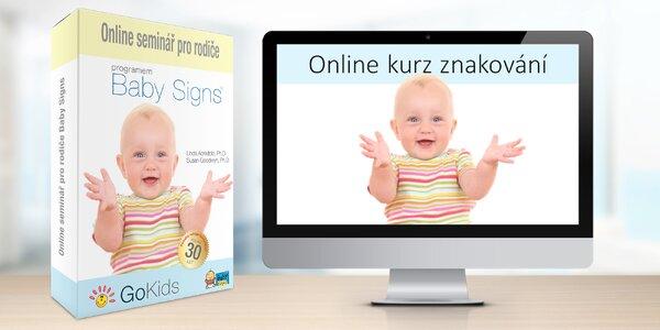 Online kurz znakování pro rodiče batolat