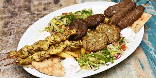 Řecká hostina pro dva: 4 druhy masa a přílohy