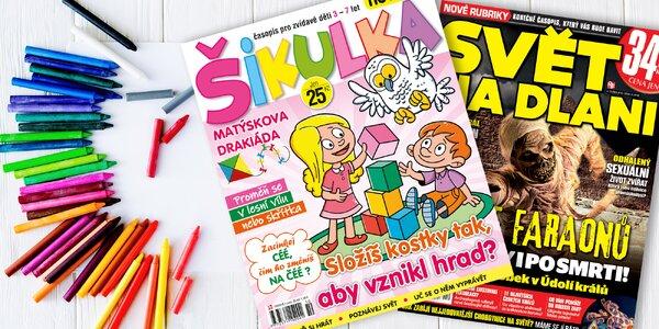 Předplatné dětského časopisu Šikulka s bonusem