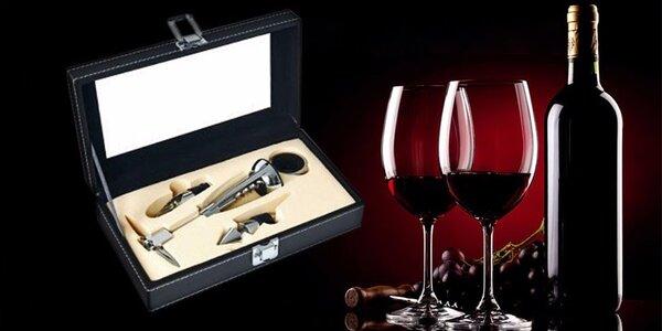 Příslušenství na víno v dárkové kazetě